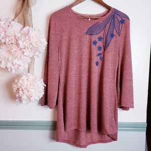 Nice Tunic/Top with  added Embroidery Touch